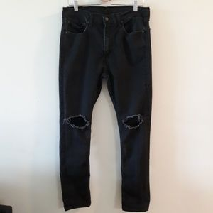 Levi's  519 Distressed Washed Skinny Jeans